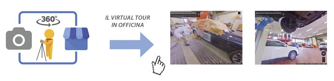 virtual tour in officina